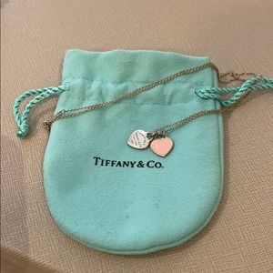 Tiffany Mimi double heart tag necklaces